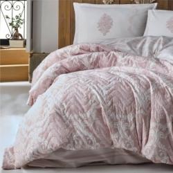 Cotton Box Çift Kişilik Daily Pamuklu Yatak Örtüsü Pembe