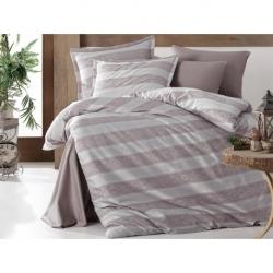Cotton Box L Beden Nakışlı Erkek Bornoz Daily Gri Gri