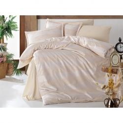 Cotton Box M Beden Nakışlı Bayan Bornoz Daily Ekru Yeşil